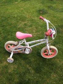 Little girls bike & stabilisers
