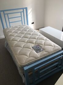 Single Bed - Cool boys bed with trundle and desk. Clean, unmarked mattresses