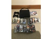 Play station 3, 2 controllers and 16 games