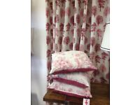 Made to measure Curtains & Tie backs, Roman Blinds, Cushions. Professional family business.