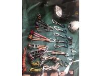 Climbing gear - new harness, wire nuts, slings and a lot more