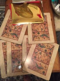 X6 table mats wooden - £2 for all