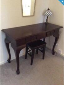 Antique style side table/desk