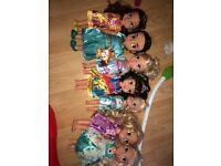Disney dolls, played with but really good condition !