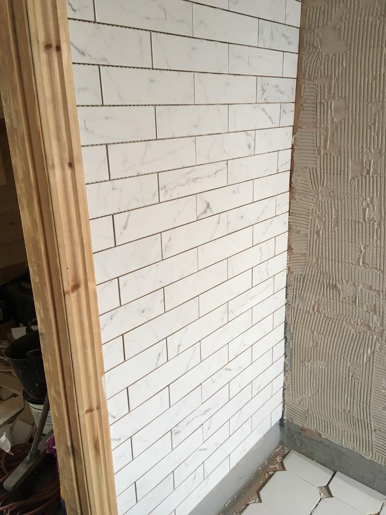 Carrara marble effect tiles | in Calverley, West Yorkshire | Gumtree