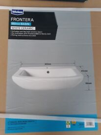 Bathroom basin and vanity unit and mixing tap brand new