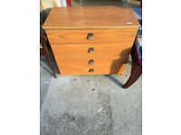 Chest of drawers with 4 drawers on wheels, Collection only