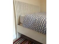 Queen ikea bed with slats