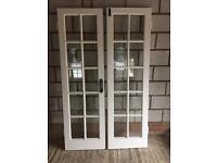 Internal glazed double doors