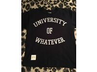 BRAND NEW ( UNIVERSITY of WHATEVER )T-SHIRTS £5 each