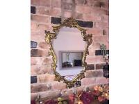 Gold ornate portrait mirror vintage gold mirror enchanted mirror
