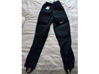 New Nike Adult Padded Goalkeeper Pants - Black
