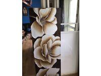 Brown flower canvas