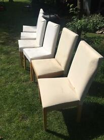 Six Habitat Dining Chairs