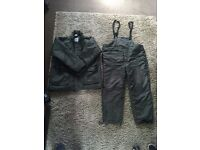 Coarse Carp Fishing Cold All Weather Green Suit XL Insulated Jacket And Bottoms.