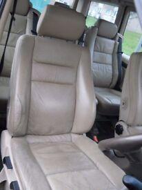 Mercedes Benz V Class Vito W638 6x Tan Leather Seats