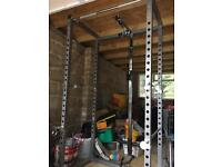 Full Gym Set with Power Cage, Bench, Attachments and 2 x 15kg Weights