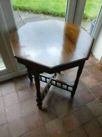 Small traditional oak octagonal table