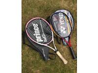 Two junior tennis racquets