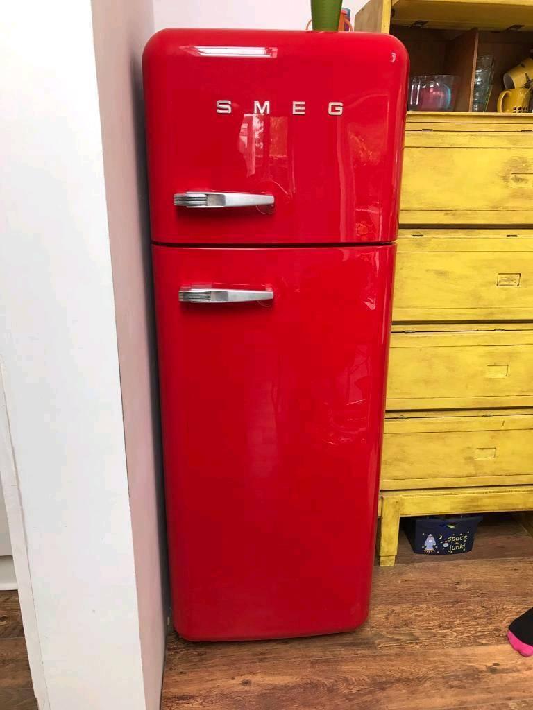 Red Smeg Fridge Freezer