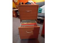 Filing cabinet with files