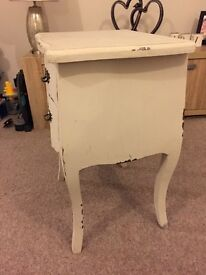 Shabby chic bedside tables x2
