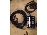 12 Channel XLR Wall/Stage Box and Van Damme Multicore Cable - Unfinished Project