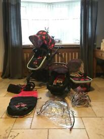Cosatto Giggle 2 Full Travel System - Flamingo Fling Edition