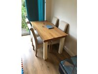Oak Dining Table (4 seater)
