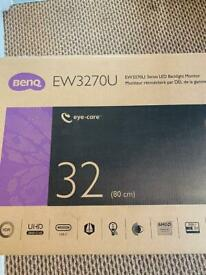 BENQ EW3270U 4K Ultra HD 32 monitor xbox one x also razor xbox one controller and astro a10 headset
