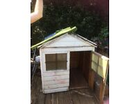 Kids wooden playhouse needs lots of talc but the basic structure is there.