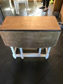 Shabby chic table drop leaf kitchen dining
