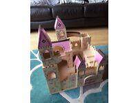 Folding wooden princess castle