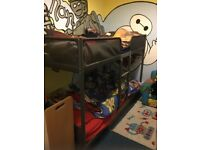 Ikea silver steel bunk bed, only a few months old, frame only!