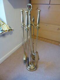 Brass Fireside Companion Set - 5 Piece
