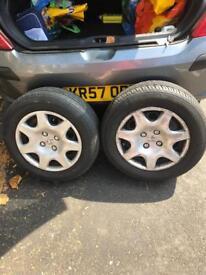 195 x 65 x 15 tyres (x2)