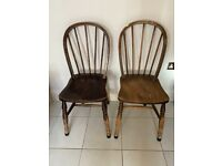 Pair of Antique Wooden ornate Dining chairs for Industrial look