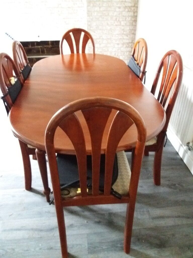 For Sale Table And 6 Chairs Good Condition