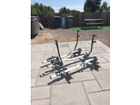 thule roof bars and 3 bike carriers