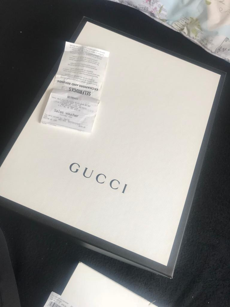 530523670a1 MENS GUCCI RHYTON GG LEATHER RUNNING TRAINERS IN WHITE BRAND NEW SELFRIDGES  U.K. SIZE 12
