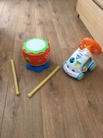 Tomy steering wheel& little tikes drum
