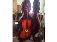 ¾ size cello; hardly used; excellent condition.