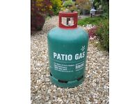 Patio Gas by Calor. 13kg propane gas bottle. Full bottle.For barbeque and patio heaters