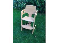 Solid wood children's high chair excellent quality
