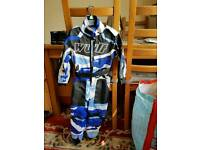 Immaculate condition kids xs bikers suit
