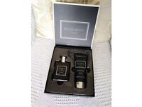 BRAND NEW BLACK AND WHITE GIFT SET INCLUDING 100ML AFTERSHAVE AND BODY LOTION