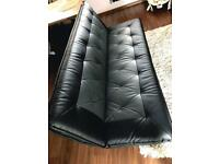 Sofa bed 3seater black grey with delivery