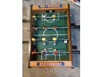 Mini table football table inc two balls. Hardly used and excellent condition. Collection only