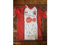 Signed Southampton F.C. shirt