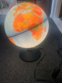 Globe world lamp